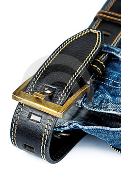 Jeans With Belt Royalty Free Stock Photo - Image: 23530435