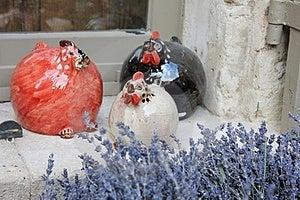 Ceramic Chickens Stock Photos - Image: 23530563