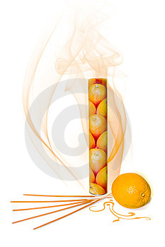 Orange Incense Royalty Free Stock Photos - Image: 23533938