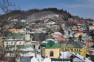 Banska Stiavnica Historical Mining Town In Winter Stock Photo - Image: 23537910