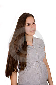 Beautiful Woman With Straight Long Hair Stock Photo - Image: 23544910