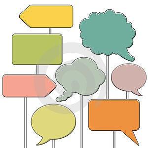 Speech Bubbles Stock Images - Image: 23547694