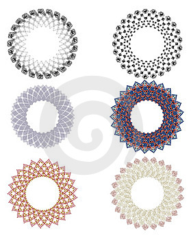 Design Elements Rosettes Stock Photography - Image: 23548612