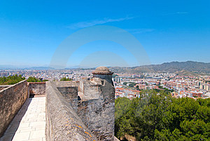 The Fortress In Malaga. Stock Images - Image: 23551304