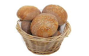 Buns With Sesame Seeds Royalty Free Stock Photos - Image: 23552278