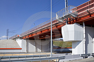 Bridge And Highway Royalty Free Stock Images - Image: 23553179