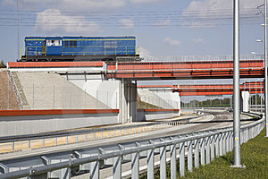 Bridge And Highway Royalty Free Stock Image - Image: 23553226