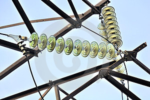 Detail Of Tension Tower Royalty Free Stock Photos - Image: 23556118