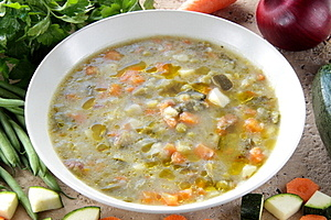 Rustic Soup Whit Vegetables Stock Images - Image: 23560564