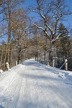 The Road Through The Small Bridge Stock Image - Image: 23562671