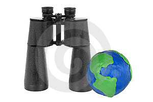 Binoculars And Globe Stock Image - Image: 23567451