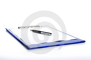 A Pen And A Pad Folder Stock Photography - Image: 23568002