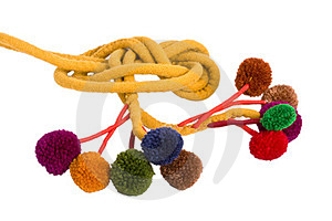 Handmade Belt With Pompons Stock Image - Image: 23568081