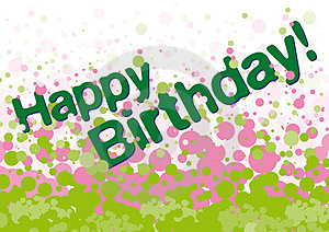 Happy Birthday Greetings Card Royalty Free Stock Photography - Image: 23572137