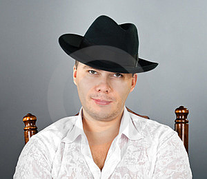 Portrait Of Young Man In A Hat Stock Image - Image: 23577181