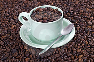A Cup Of Coffee Bean Stock Images - Image: 23578284