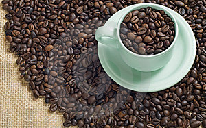 A Cup Of Coffee Bean Stock Photos - Image: 23578343