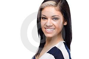 Happy Caucasian Woman Headshot Royalty Free Stock Image - Image: 23583176
