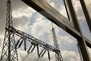 Power Pylons Royalty Free Stock Photography - Image: 23592227