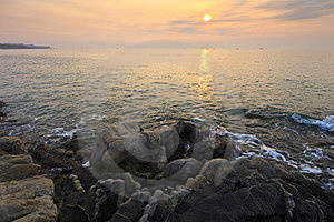 Sunrise Over The Sea Royalty Free Stock Photography - Image: 23593047
