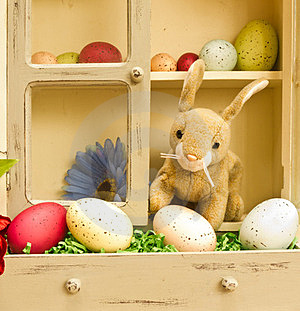 Easter Bunny With Eggs Stock Photography - Image: 23597272