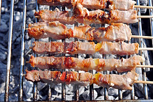 Cocked Pork Kabobs Royalty Free Stock Images - Image: 23597449