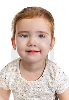 Portrait Of Beautiful Little Girl Stock Image - Image: 23599451