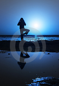 Night yoga Stock Photos