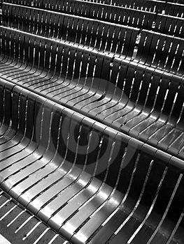 Black Plastic Benches Royalty Free Stock Image - Image: 2361436