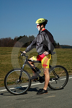 Biking Stock Photo