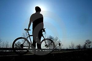Biking Stock Afbeeldingen