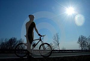 Biking Royalty-vrije Stock Foto