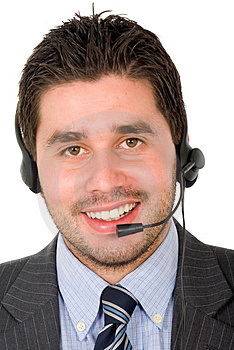 Business customer support guy Stock Photos