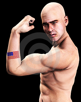 Muscle Man US 4 Stock Photography - Image: 2366782