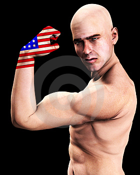 Muscle Man US 3 Stock Photo - Image: 2366980