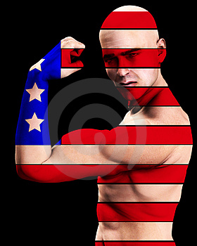 Muscle Man US 7 Stock Photos - Image: 2366993