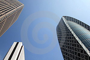Three Skyscrapers In Japan Royalty Free Stock Images - Image: 23609609