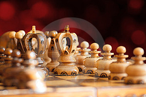 Chess Board Focus To White King Stock Image - Image: 23610521