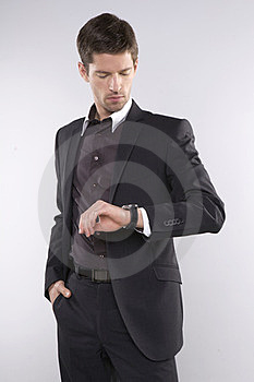 Fashion Shot Of An Elegant Young Man Wearing Suit Royalty Free Stock Photography - Image: 23613667