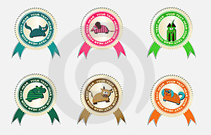 Vector Labels With Pets Royalty Free Stock Photography - Image: 23616837