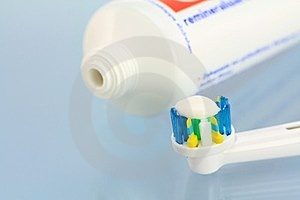 Toothpaste And A New Electronic Toothbrush Stock Images - Image: 23618374