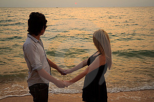 Interracial Lover Holding Hands Stock Photo - Image: 23624280