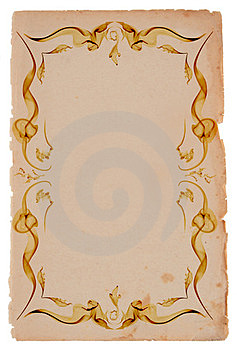 Old Paper Frame Royalty Free Stock Image - Image: 23630236