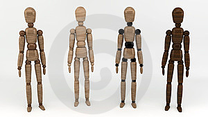 Wooden Man Stock Images - Image: 23631274