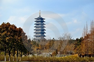 Spring Pagoda In The Woods Stock Photos - Image: 23636873