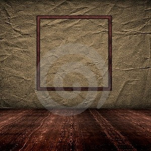 Vintage Empty Interior With Grunge Paper Wall Royalty Free Stock Photos - Image: 23640068