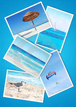 Beach Holidays Collage Royalty Free Stock Images - Image: 23640689