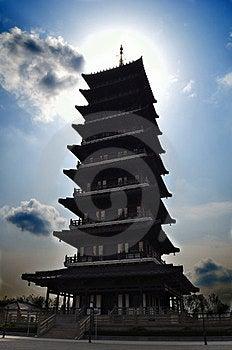 Sunshine Pagoda Stock Image - Image: 23644061