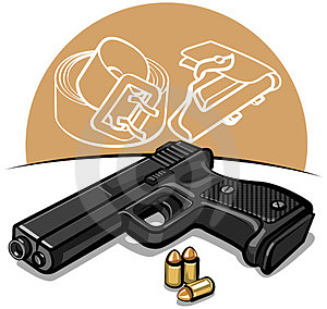 Automatic Handgun Royalty Free Stock Image - Image: 23651936