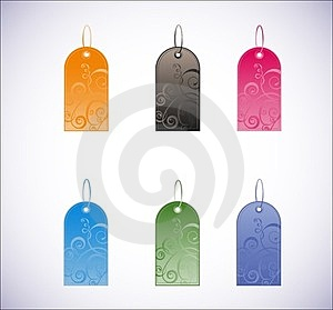 Set Of Vertical Labels Royalty Free Stock Image - Image: 23653116
